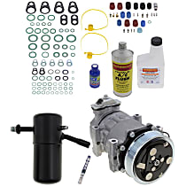 Item Auto A/C Compressor Kit - REPD191137 - Includes New Compressor, w/6-Groove Pulley, 2.5L, Removable Orifice Tube-type