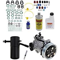 Item Auto A/C Compressor Kit - REPD191138 - Includes New Compressor, w/7-Groove Pulley, 3.9L/5.2L, Removable Orifice Tube-type