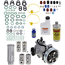 Item Auto A/C Compressor Kit - REPD191147 - Includes New Compressor, w/7-Groove Pulley, 3.9L/5.2L/5.9L, w/Rear Air
