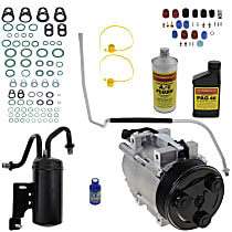 Item Auto A/C Compressor Kit - REPD191172 - Includes New Compressor, w/8-Groove Pulley, 5.9L/6.7L Diesel