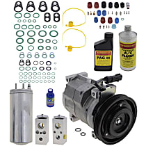 Item Auto A/C Compressor Kit - REPD191177 - Includes New Compressor, w/4-Groove Pulley, w/Block-style Expansion Valve
