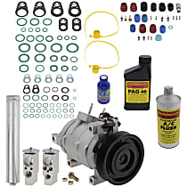 Item Auto A/C Compressor Kit - REPD191182 - Includes New Compressor, w/6-Groove Pulley, 5.7/6.1L, w/Severe Duty Cooling