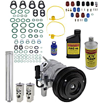Item Auto A/C Compressor Kit - REPD191183 - Includes New Compressor, w/6-Groove Pulley, 2.7L, w/ Severe Duty Cooling