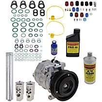 Item Auto A/C Compressor Kit - REPD191184 - Includes New Compressor, w/6-Groove Pulley, 3.5L, w/ Severe Duty Cooling