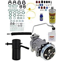 Item Auto A/C Compressor Kit - REPD191186 - Includes New Compressor, w/6-Groove Pulley, 2.5L, Orifice Tube-in-Liquid Line