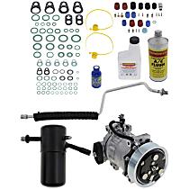 Item Auto A/C Compressor Kit - REPD191187 - Includes New Compressor, w/7-Groove Pulley, 3.9L/5.2L, Orifice Tube-in-Liquid Line