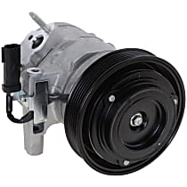 Item Auto A/C Compressor - REPDG191109 - Sold Individually, New, w/6-Groove Pulley, 2.7L, w/Severe Duty Cooling
