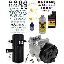 Item Auto A/C Compressor Kit - REPF191126 - Includes New Compressor, w/6-Groove Pulley, 5.0L/5.8L
