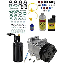 Item Auto A/C Compressor Kit - REPF191155 - Includes New Compressor, w/6-Groove Pulley, 3.0L/4.0L, w/Factory R-134a System