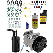 Item Auto A/C Compressor Kit - REPF191173 - Includes New Compressor, w/6-Groove Pulley, 2.3L, w/Factory R-134a System