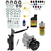 Item Auto A/C Compressor Kit - REPF191189 - Includes New Compressor, w/6-Groove Pulley, 4.6/5.4/6.8L, w/o Rear Air