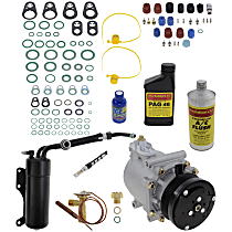 Item Auto A/C Compressor Kit - REPF191190 - Includes New Compressor, w/6-Groove Pulley, 4.6/5.4/6.8L, w/Rear Air