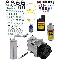 Item Auto A/C Compressor Kit - REPF191191 - Includes New Compressor, w/8-Groove Pulley, w/o Rear Air