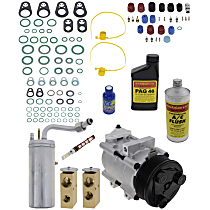 Item Auto A/C Compressor Kit - REPF191192 - Includes New Compressor, w/8-Groove Pulley, w/Rear Air