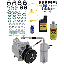 Item Auto A/C Compressor Kit - REPF191194 - Includes New Compressor, w/6-Groove Pulley, w/o Rear Air, From 3/18/02