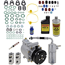 Item Auto A/C Compressor Kit - REPF191195 - Includes New Compressor, w/6-Groove Pulley, w/Rear Air, From 3/18/02