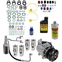 Item Auto A/C Compressor Kit - REPF191196 - Includes New Compressor, w/6-Groove Pulley, 5.4L, w/Rear Air