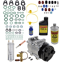 Item Auto A/C Compressor Kit - REPF191197 - Includes New Compressor, w/6-Groove Pulley, w/Rear Air