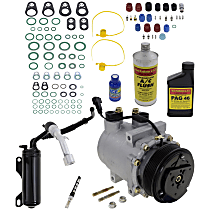 Item Auto A/C Compressor Kit - REPFD191107 - Includes New Compressor, w/6-Groove Pulley, Gas, w/o Rear Air