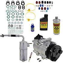 Item Auto A/C Compressor Kit - REPFD191131 - Includes New Compressor, w/6-Groove Pulley, w/o Rear Air, Until 3/17/02