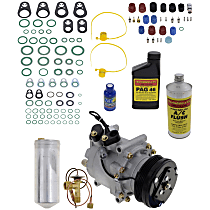 Item Auto A/C Compressor Kit - REPH191120 - Includes New Compressor, w/4-Groove Pulley