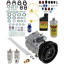 Item Auto A/C Compressor Kit - REPH191124 - Includes New Compressor, w/6-Groove Pulley, w/o Rear Air