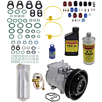 Item Auto A/C Compressor Kit - REPH191126 - Includes New Compressor, w/6-Groove Pulley, 4cyl