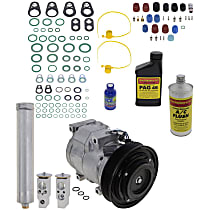 Item Auto A/C Compressor Kit - REPH191130 - Includes New Compressor, w/6-Groove Pulley, 6cyl