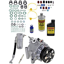 Item Auto A/C Compressor Kit - REPI191102 - Includes New Compressor, w/6-Groove Pulley, 6cyl, w/o Rear Air