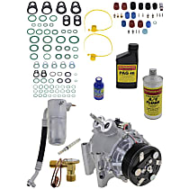 Item Auto A/C Compressor Kit - REPI191103 - Includes New Compressor, w/6-Groove Pulley, 6cyl, w/Rear Air