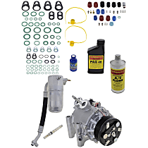Item Auto A/C Compressor Kit - REPI191107 - Includes New Compressor, w/6-Groove Pulley, 6cyl, w/o Rear Air