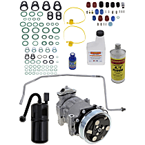 Item Auto A/C Compressor Kit - REPJ191107 - Includes New Compressor, w/6-Groove Pulley, Left Hand Drive only