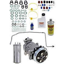 Item Auto A/C Compressor Kit - REPJ191108 - Includes New Compressor, w/6-Groove Pulley, 4.0L, Left Hand Drive only