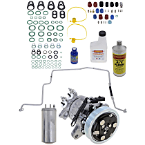 Item Auto A/C Compressor Kit - REPJ191111 - Includes New Compressor, w/6-Groove Pulley, 3.7L