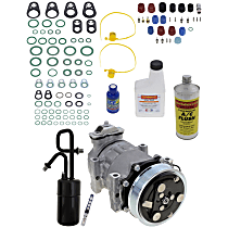 Item Auto A/C Compressor Kit - REPJ191114 - Includes New Compressor, w/6-Groove Pulley, 2.5L/4.0L
