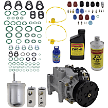 Item Auto A/C Compressor Kit - REPJ191115 - Includes New Compressor, w/6-Groove Pulley, 8cyl