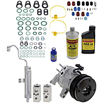 Item Auto A/C Compressor Kit - REPJ191117 - Includes New Compressor, w/6-Groove Pulley, 3.7L/4.7L