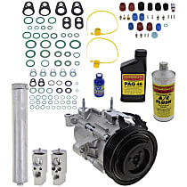 Item Auto A/C Compressor Kit - REPJ191124 - Includes New Compressor, w/6-Groove Pulley, 3.7L