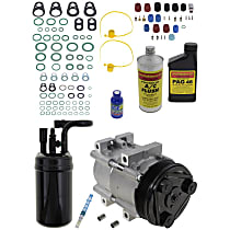 Item Auto A/C Compressor Kit - REPM191120 - Includes New Compressor, w/6-Groove Pulley, 4.0L, w/Factory R-12 System