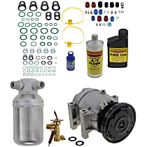 Item Auto A/C Compressor Kit - REPP191104 - Includes New Compressor, w/6-Groove Pulley, 6cyl