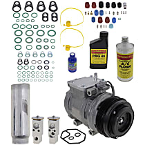 Item Auto A/C Compressor Kit - REPT191118 - Includes New Compressor, w/4-Groove Pulley, 4cyl
