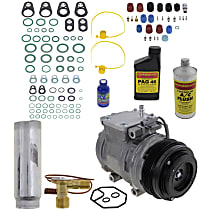 Item Auto A/C Compressor Kit - REPT191119 - Includes New Compressor, w/4-Groove Pulley, 2.7L