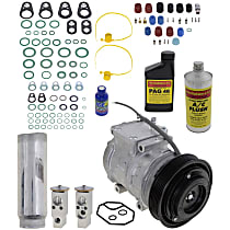 Item Auto A/C Compressor Kit - REPT191122 - Includes New Compressor, w/6-Groove Pulley, 6cyl