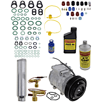 Item Auto A/C Compressor Kit - REPT191123 - Includes New Compressor, w/6-Groove Pulley, w/Rear Air