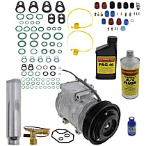 Item Auto A/C Compressor Kit - REPT191124 - Includes New Compressor, w/6-Groove Pulley, w/o Rear Air