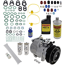 Item Auto A/C Compressor Kit - REPT191125 - Includes New Compressor, w/6-Groove Pulley, w/o Rear Air