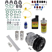 Item Auto A/C Compressor Kit - REPT191128 - Includes New Compressor, w/6-Groove Pulley