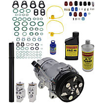 Item Auto A/C Compressor Kit - REPV191114 - Includes New Compressor, w/6-Groove Pulley, 1.8L/2.0L