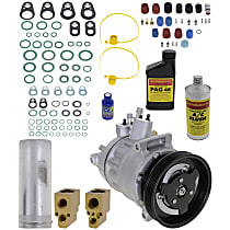 Item Auto A/C Compressor Kit - REPV191122 - Includes New Compressor, w/10-Groove Pulley, 5cyl