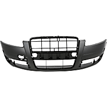 Bumper Cover - Front, 1 Piece, Primed, Type 1, For Models Without Headlight Washers, With Tow Hook Hole